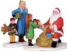 Lemax Christmas Figurines PRESENTS FROM SANTA #42245 Santa Mum & Children New