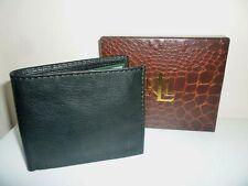 Ralph Lauren Men's Black Bifold Wallet New in Gift Box