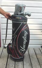 Rare Collectible Yuengling Inflatible Golf Bag With Clubs Nice