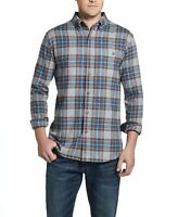 Weatherproof Vintage Mens Shirt Blue Gray Size Small S Button Down Plaid $55 201