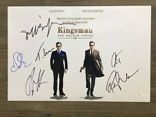 KINGSMAN: The Golden Circle signed 12X18 photo~ Berry ~ Bridges~Tatum~~ JSA/COA