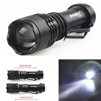 Focus 20000LM XPE 3Modes Zoomable LED Flashlight Torch Light Bright AA/14500 k