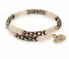 Alex and Ani V18W03RG Heart Wrap Rafaelian Gold Charm Bangle Bracelet