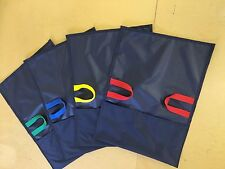 SLIDE SACKS x 4 TODDLER SIZE NAVY ( FOR USE WITH INFLATABLE SLIDE ) NEW