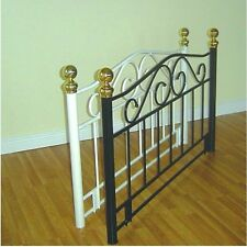 3ft Single Victorian Traditional Style Metal Headboard - Black or White