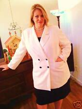 New Le Suit Skirt Suit White Jacket Black Skirt Size 22 Plus Woman Career