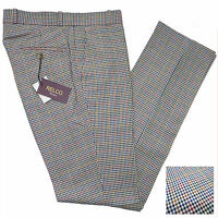 Relco Mens Tweed Check Sta Press Style Trousers NEW Mod Skin Vtg Stay Pressed