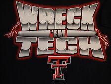 NCAA Texas Tech Red Raiders College University Football Fan Black T Shirt M