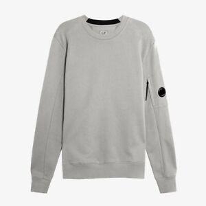 C.P. Company Diagonal Raised Fleece Lens Sweatshirt - Grey Melange
