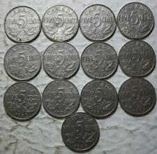 Canada 1922-1936 5 Cents Set Of 13 Different Coins, Circulated