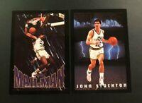 1993-94 Skybox Premium # 319 # 338 JOHN STOCKTON & KARL MALONE Lot Utah Jazz $$$