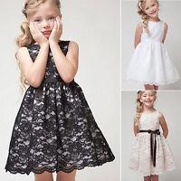 enfant princesse fille lacets fête habillé Concours sans manche