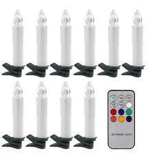 10pc LED Battery Operated Flickering Taper Candles Tea Light With Remote Control