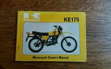 KAWASAKI  KE 175 D1 OWNERS MANUAL / HANDBOOK / BOOKLET