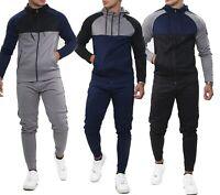 NEW Mens Tracksuit Zip Up Hoodie Slim Fit Gym Exercise Jogging Bottoms Pants Set