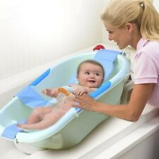 Infant Baby Bath Adjustable Support For Bathtub Seat Sling Mesh Net Blue 2017