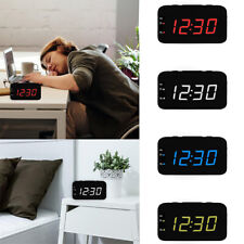 1pc Digital Alarm Clock Dimmable 12/24Hr Snooze Large Boldface Digit LED Display