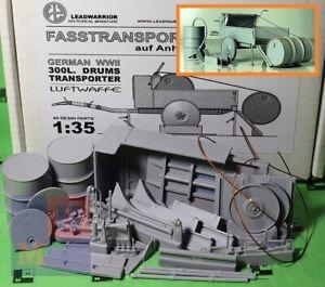 """1/35. Steel Drums Transporter Trailer, Luftwaffe kit, by """"Leadwarrior""""  LW 35215"""