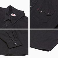 Levis Casual Denim Black Sawtooth Western Levi's Shirt # 0098