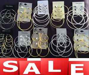 40 Pairs Quality Hoop Earrings Wholesale Jewelry Lot 😍FREE Shipping😍US Seller