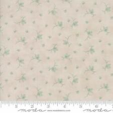 3 Sisters Quill Floral Butterflies Fabric in Parchment & Aqua 44157-21