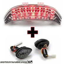 03-06 CBR600RR SEQUENTIAL CLEAR LED Tail Light + Flush Mount Turn Signals COMBO