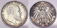 2 MARK 1904 F WURTTEMBERG GERMANIA GERMANY #4859