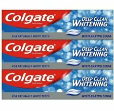 3 x Colgate Deep Clean Whitening with Baking Soda Toothpaste 100ml
