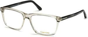 Tom Ford FT5479-B 020 Grey Clear Lens Plastic 56 mm Men's Eyeglasses