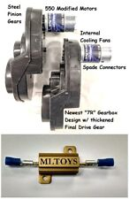 BRM + PAIR of Power Wheels Gearboxes & Motors for Jeep Wranglers SPEED TUNED