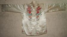 ANTIQUE CHINESE SILK HAND EMBROIDERED FLORAL JACKET (X701)