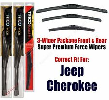 Wiper Blades Trico 3-Pack Front + Rear fits 2014+ Jeep Cherokee - 25260/180/14A
