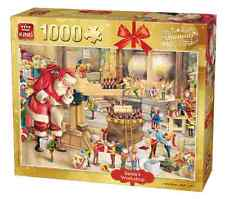 1000 Piece Christmas Jigsaw Puzzle Father Christmas Santa's Workshop Grotto 5350