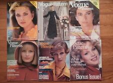 *** VOGUE PATTERNS  LOT OF 6 DIFFERENT MAGAZINES 1970-1984