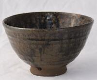 Vintage Japanese Pottery Temeko Tea Bowl 茶碗  Chawan Ceremony Artist Sgned