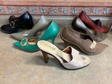 Vintage Womens Dress Shoes Size 6 Lot Of 7 Pair Heels Old As Is
