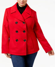 Celebrity Pink $89 NWT Large Juniors Double-Breasted Peacoat Lipstick Red NEW!