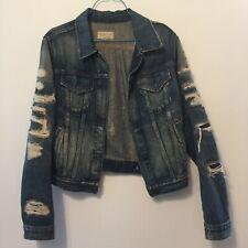 Denim & Supply Ralph Lauren woman's luxury Ripped sleeve denim jean jacket Small
