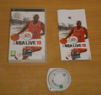 NBA Live 10 Sony PSP Rare Game Complete Free P&P UK