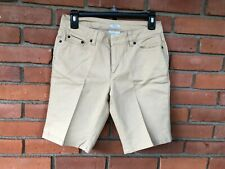 Liz Claiborne Tan Beige Stretch Chino Casual Walking Shorts  Petites  Size 4P