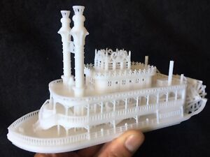Gold Rush Bay Miniature N Scale Old West Steamboat Paddlewheeler Riverboat Built