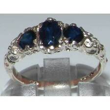 Oval Sapphire Three-Stone Fine Rings