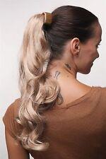 Postiche TRESSE Peigne enfichable & Serre-tête Blond Mix ondulé bouclée 45 cm