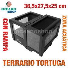 TERRARIO S-02 TORTUGA RANA ANFIBIO METACRILATO RAMPA 36,5x27,5x25 cm L553 3504