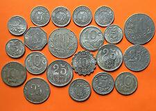 FRANCE MONNAIES de NECESSITE 10 CTS 1921 PERPIGNAN / 5 CTS 1922 VICHY - LOT -
