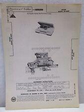 Vintage Sams Photofact Folder Radio Parts Manual Sharp RP-660P Record Player