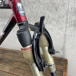 """Vintage Trek MTB Frame Set Carbon Fiber 8700 18.5"""" Halson Inversion Fork USA"""