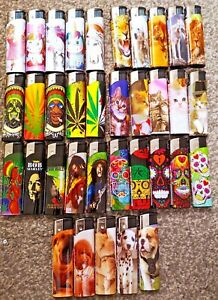 5 PACK GSD ELECTRONIC REFILLABLE LIGHTERS MULTI-PACK ASSORTED DESIGN LIGHTER SET
