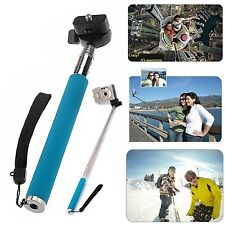Extendable Handheld Selfie Stick POV Action Shot Monopod Holder for GoPro Camera