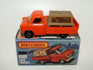 Matchbox Superfast No 66 Ford Transit Very Rare AMBER Glass BROWN Interior NMIB